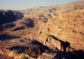 Petra: the Royal Tombs from the High Place of Sacrifice